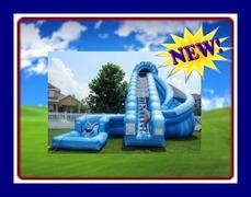 24 FEET CORKSCREW WATER SLIDE/POOL