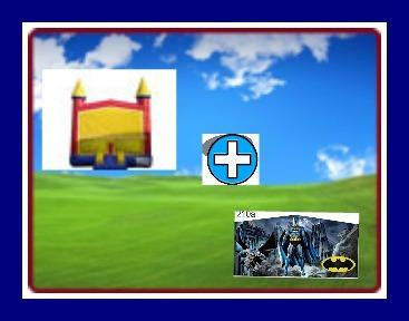 13 X 13 BOUNCE HOUSE WITH BAT-MAN THEME