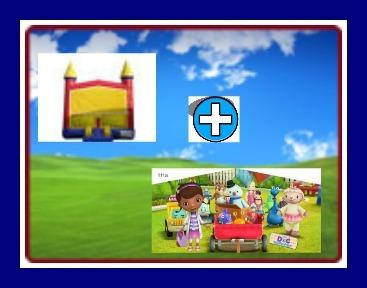 13 X 13 BOUNCE HOUSE WITH DOC McSTUFFINS THEME