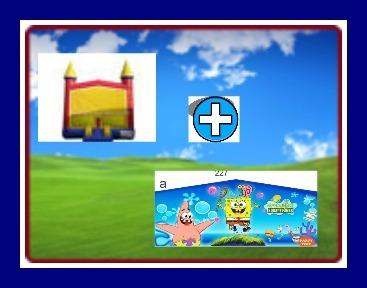 13 X 13 BOUNCE HOUSE WITH SPONGE-BOB THEME