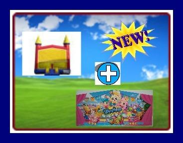 13 X 13 BOUNCE HOUSE WITH SHOPKINS THEME