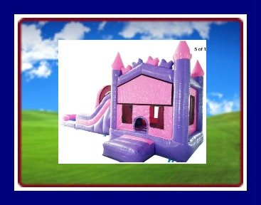 PINK/PURPLE CASTLE WATER COMBO/POOL