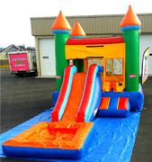 FlameOut Bounce House Climber and Waterslide