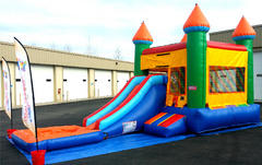 FlameOut Waterslide and Bounce House, Basketball and Climber
