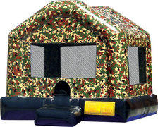 Camoflauge Bounce House with Basketball Hoop