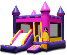 Princess Castle Bounce & Dry Slide Combo