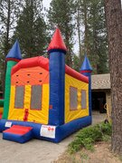 Skittles Castle Slide and Bounce House Combo