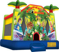 Tropical Island Theme Bounce House