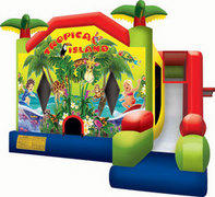 Tropical Island Sports Bounce Dry Slide Combo