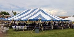 40x60 White & Blue Pole Tent