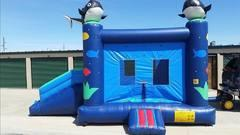 Whale Bounce House Slide-Combo