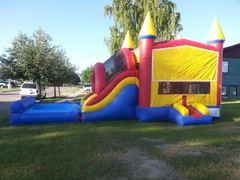 Bounce House Slide Combo Wet