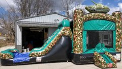 Camo Bounce House Slide Combo