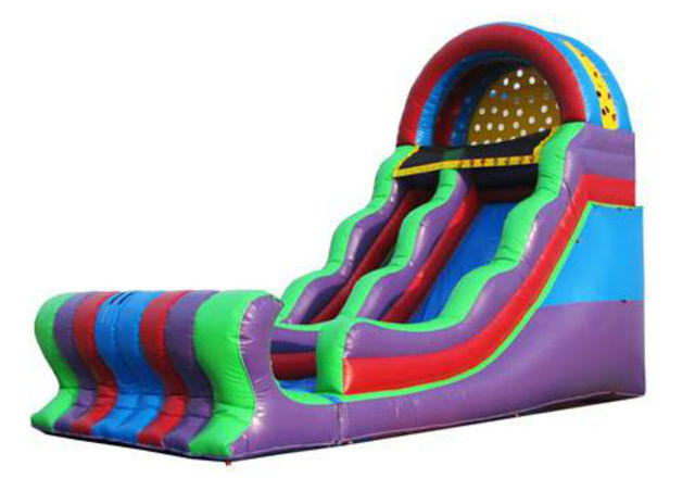 18 Ft Colorful Slide 2 DRY