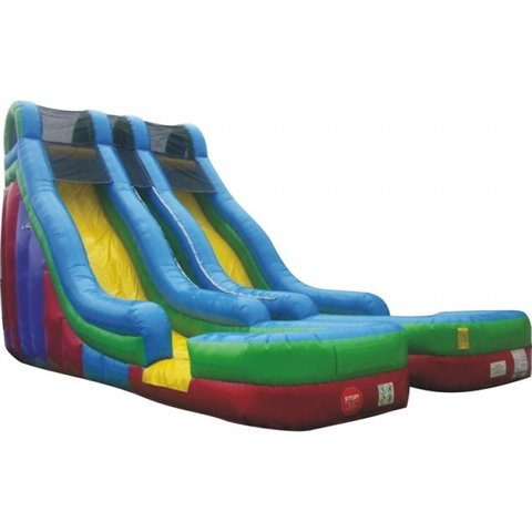 24' Double Lane Water Slide