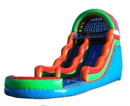 18FT COLORFUL WATER SLIDE W/ POOL