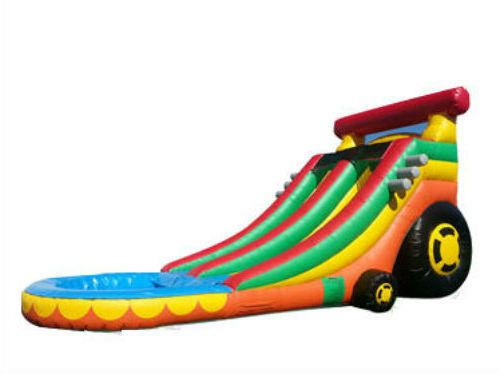 16FT CAR WATER SLIDE  W/POOL