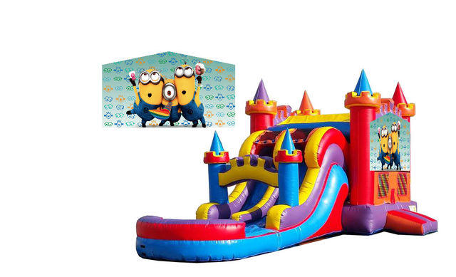 Minion Jumper Double Slide w/pool