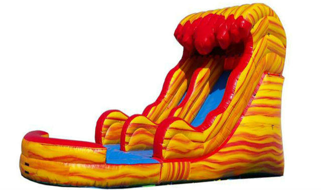 18FT LAVA WATER SLIDE W/POOL
