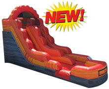 12' Fire Marble Water Slide