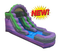12' Purple Marble Water Slide