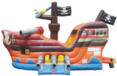 Pirate Ship Bounce House Combo DRY