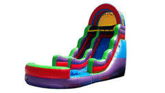 18FT COLORFUL WATER SLIDE 2 W/POOL