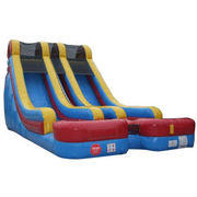 18FT DOUBLE LANE DRY SLIDE