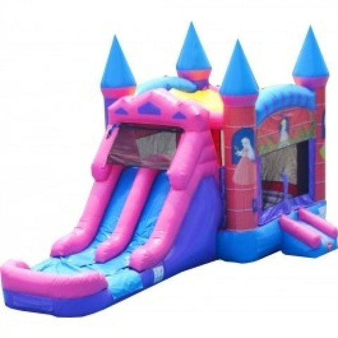 Princess Double Lane Bounce House Combo