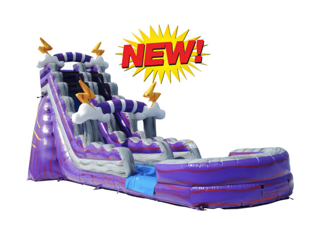 19Ft PURPLE THUNDER WATER SLIDE