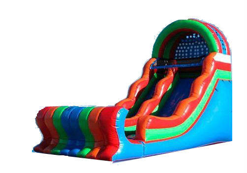 18 Ft Colorful Slide DRY