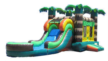 Tropical Large Bounce Slide Combo w/pool