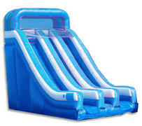 18 ft. Double Lane Dry Slide