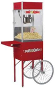 Old Fashion Popcorn Machine with cart