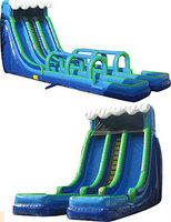 24 foot water slide with dual slip and slides