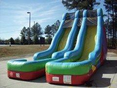 24' High Huge Thrill Double Lane Dry Slide (SWD24172)