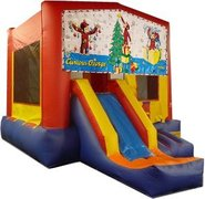 Curious George Christmas Partytime Jump and Front Slide - Large
