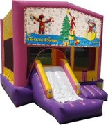 Curious George Christmas Pink PartyTime Jump and Front Slide - Large