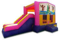 Curious George Christmas Pink Partytime Jump and Side Slide - Large