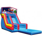 Happy Holidays 18' High Banner Waterslide with Pool (SW18016)