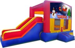 Happy Holidays Playtime Jump and Side Slide - Large