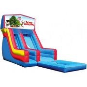 Merry Christmas 18' High Banner Waterslide with Pool (SW18016)