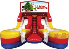Merry Christmas 17' High Double Delight Dry Slide