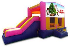 Merry Christmas Pink Partytime Jump and Side Slide - Large