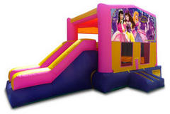 Princess Pink Playtime Jump and Side Slide with Hoop - Medium