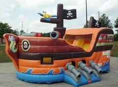 Pirate Ship Jump and Slide with Hoop (CD19008)