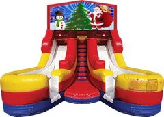 Santa and Snowman 17' High Double Delight Dry Slide