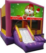 Snowman Pink PartyTime Jump and Front Slide - Large