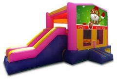 Snowman Pink Partytime Jump and Side Slide - Large