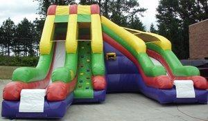 20' High Ultimate Helix Dual Dry Slide w/ Hoop (SD20002)